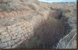 Acuaducto romano - canalización romana a cielo abierto