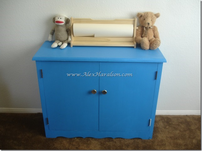 Bright Blue Toy Cabinet Redo After9