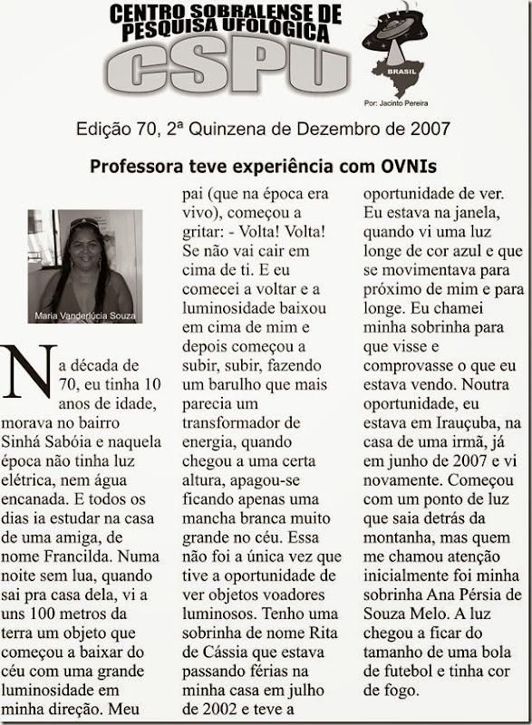 Edição 70, 2ª Quinzena de Dezembro de 2007
