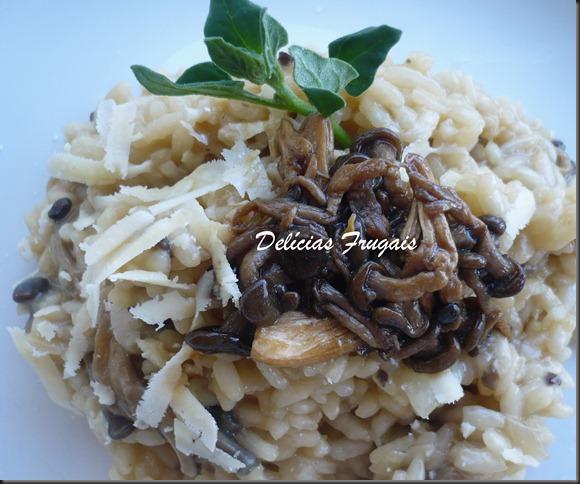 Risoto de shimeji - Delicias Frugais