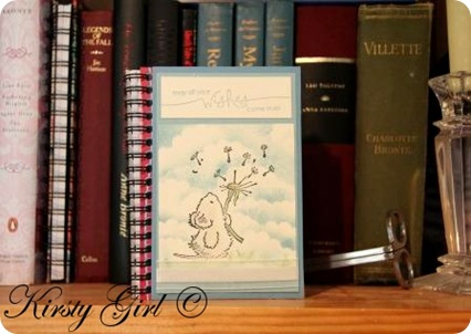 Kirsty Girl's Penny Black Stampin Up notebook #1