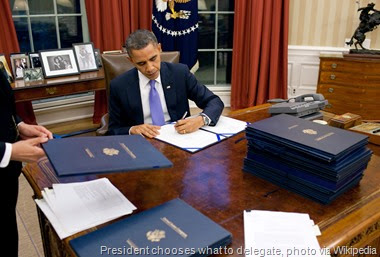 President Barack Obama signs legislation in the Oval Office, Dec. 22, 2010. (Official White House Photo by Pete Souza)