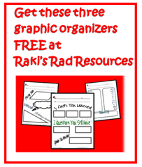 Get these free graphic organizers by filling out a quick survey at Raki's Rad Resources