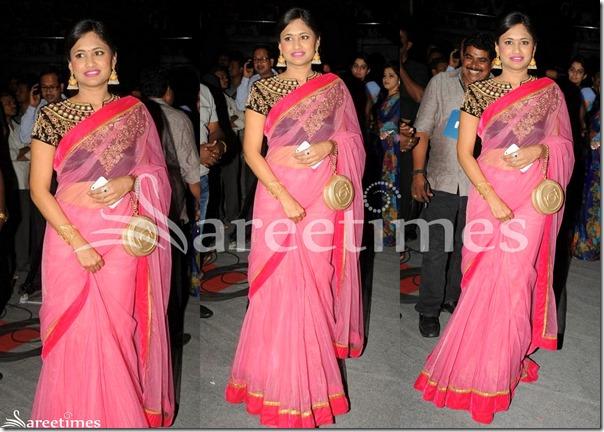 Sravanthi_Chukkapalli_Pink_Net_Saree