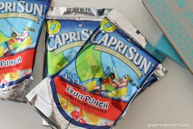 empty capri sun wrappers