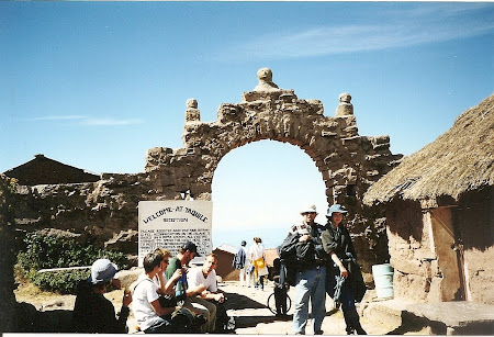 Things to do in Titicaca: Taquile gate