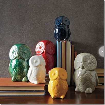 west elm owls -booklovers-bookends