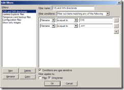 برنامج Filezilla يحتوى على فلتر للبحث عن الملفات