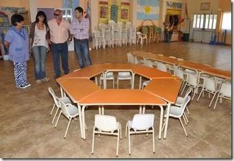Jardín de Infantes Nº912 de Santa Teresita fue una de las instituciones que recibió mobiliario
