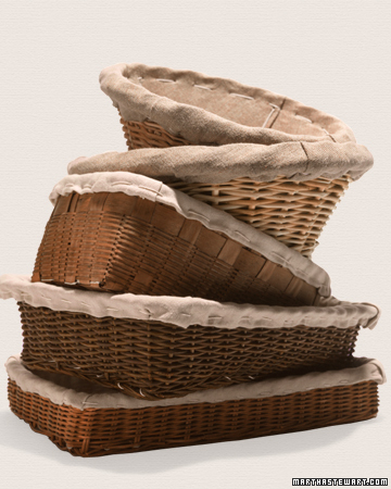Learn how to make linen-lined baskets at: www.marthastewart.com/264194/linen-lined-baskets