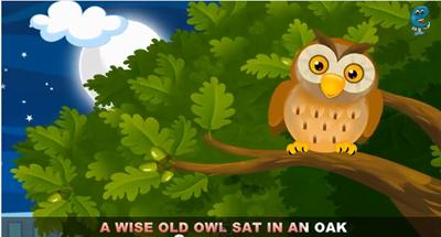 Rimas en inglés para niños A wise old owl