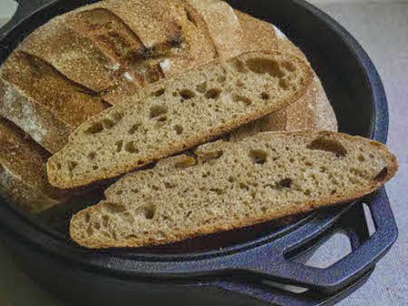 Einkorn and Wheat Tartine