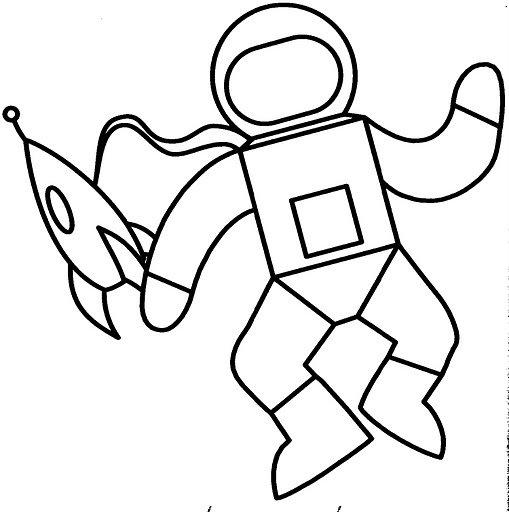 Dibujos de un astronauta para colorear - Imagui