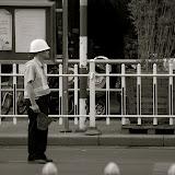 Shanghai - Marché poisson - Le policier