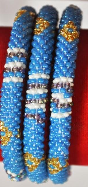 Rollover Bracelets Blue Series