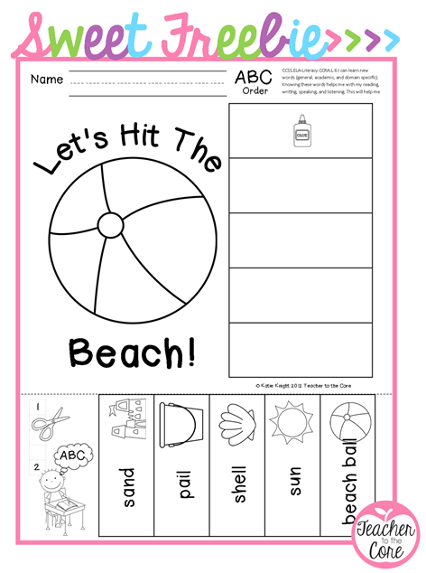 Sweet Summer Freebie to help young students with Vocabulary Acquisition.  Your English Language Learners will especially benefit from the picture of every word !