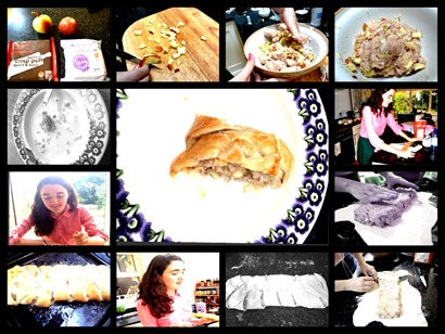 Lucy Sausage Plait collage