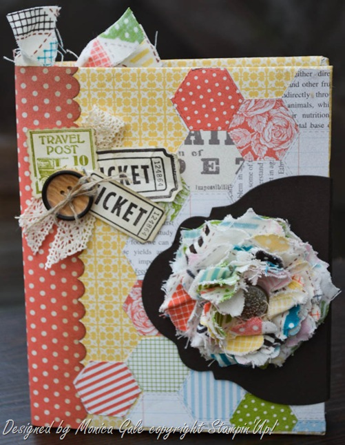 Stampin'Up! tea for two mini album