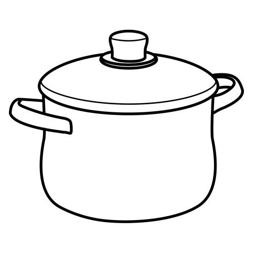 Dibujo de una olla para colorear imagui for Hoya para cocinar