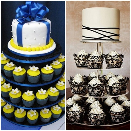 O BOLO - TORRE DE CUPCAKES - MINI WEDDING 2