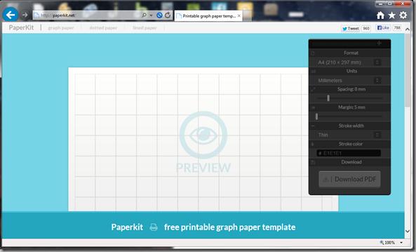 Paperkit.net graph paper screenshot