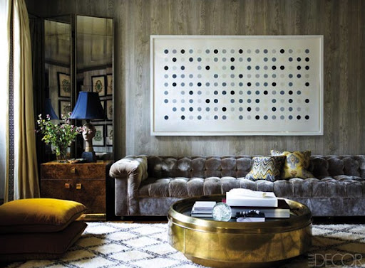 The shades of grey and black in this image are stunning. (Elle Decor)