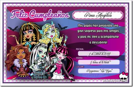 Postales cumpleaños monster high - Imagui
