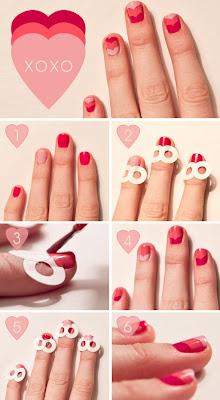 Nail art en toute simplicité pour la Saint-Valentin!