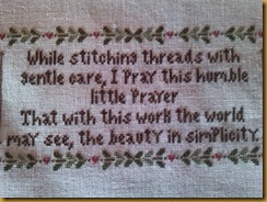 STITCHER'S PRAYER DETALLE PRAYER