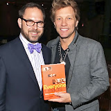 NEW YORK, NY - Jon Bon Jovi helps promote &quot;Everyone Leads&quot; book tour. PHOTOS TERRENCE JENNINGS
