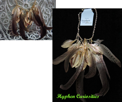 feather necklace, hyphen