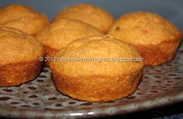 Salsa Flax Corn Muffins - close up