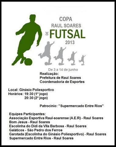 Copa Raul Soares de Futsal 2013
