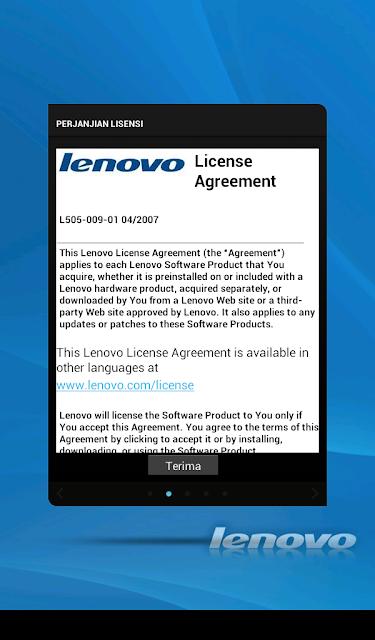 Memperbesar Partisi Internal Lenovo A1000: License Agreement