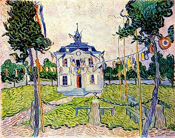auvers-town-hall-in-14-july-1890