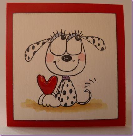 cagnolino cuore rosso