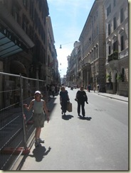On the Via Del Corso (Small)