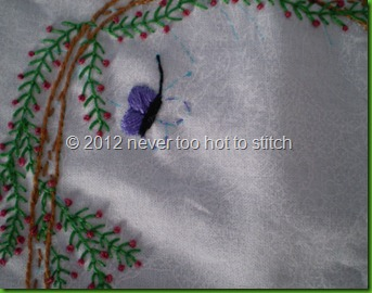 2012 archway embroidery butterfly in progeress detail