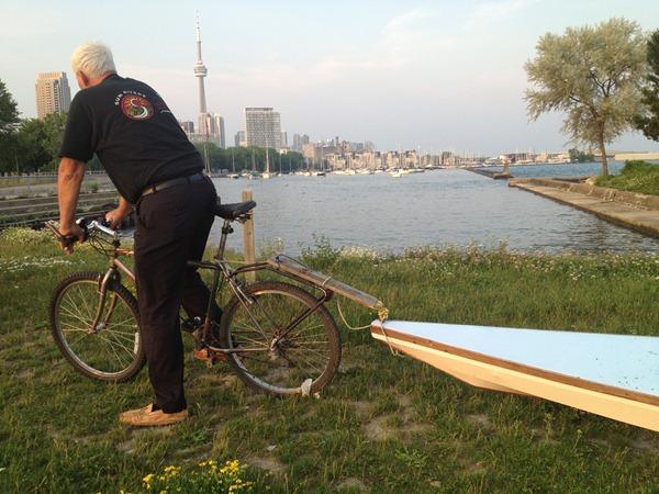 Bob and his home made kayak