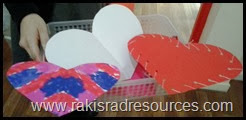 Valentine's Art at the International School of Morocco - Stop by Raki's Rad Resources to see how it was done.