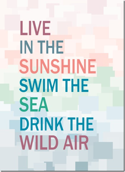 Live in the Sunshine Print small