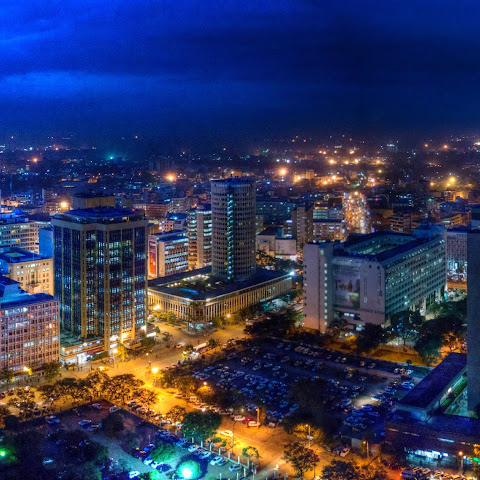 Nairobi, Kenya, at night