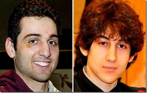 Tamerlan Tsarnaev, left, and Dzhokhar Tsarnaev. Photograph AP