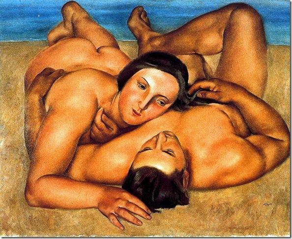 Josep de Togores i Llach -Desnudos en la playa -1922