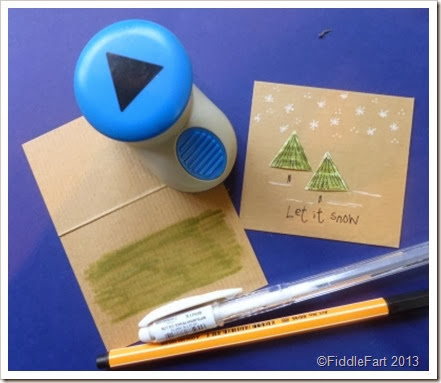 Christmas Tree Card Kraft Card