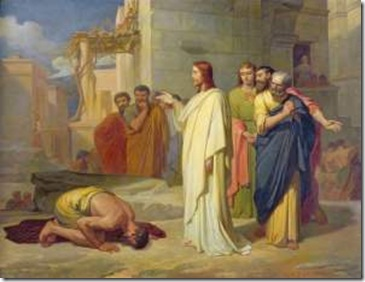 Jesus cura leproso