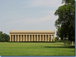 9508 Nashville, Tennessee - Discover Nashville Tour - downtown Nashville - Centennial Park - the Parthenon (from the side), a full-scale replica of the original Parthenon in Athens