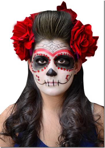 fotos de maquillajes de Catrina y calavera mexicanas día de los muertos