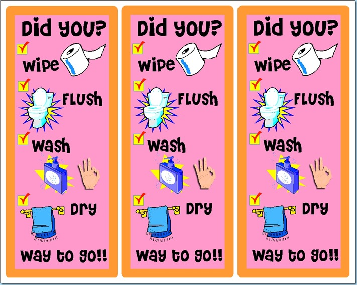 How to Use the Bathroom - Don't forget! ©2014 Schnegel-stuff.blogspot.com