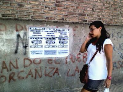 carteles de callejeros inocentes en chacabuco 2013